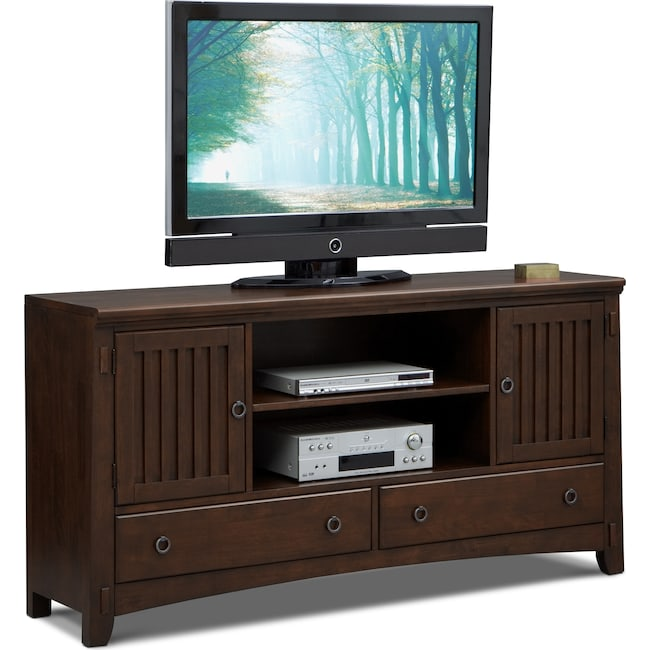 Entertainment Furniture - Arts & Crafts TV Stand - Chocolate