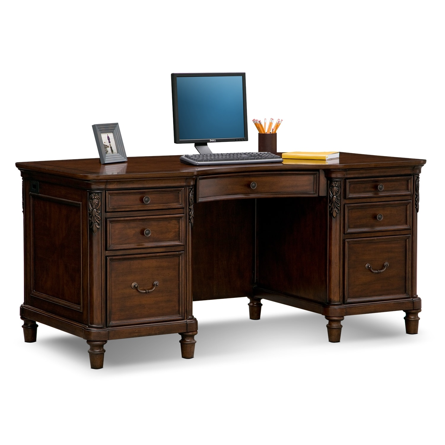 Executive Office Furniture: Ashland Executive Desk - Cherry