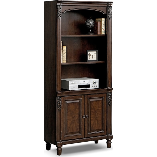 Home Office Furniture - Ashland Door Bookcase - Cherry