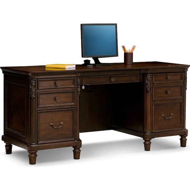 home office furniture ashland credenza desk cherry