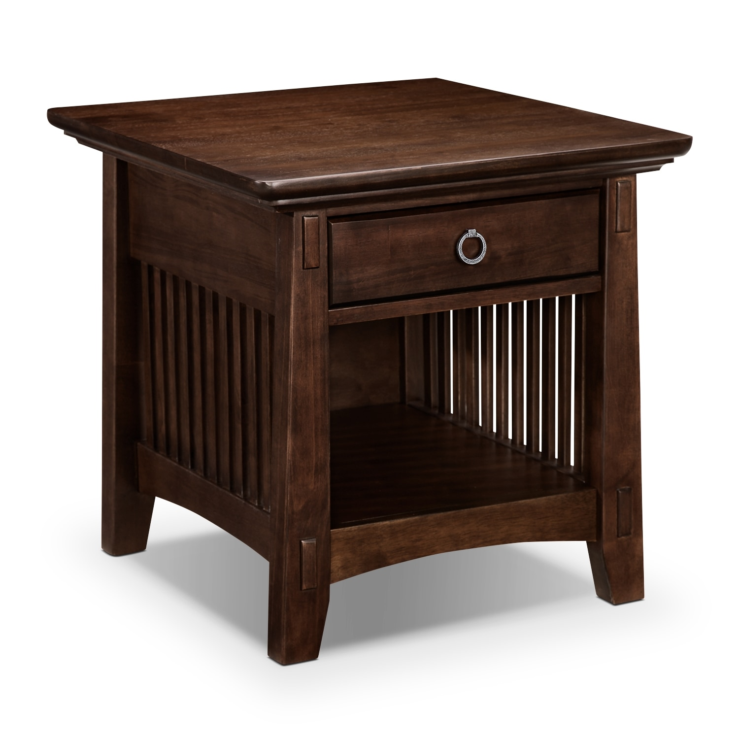 Accent and Occasional Furniture - Arts & Crafts Dark End Table