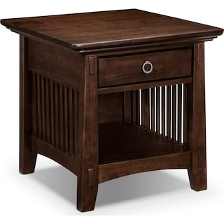 Arts & Crafts End Table - Chocolate