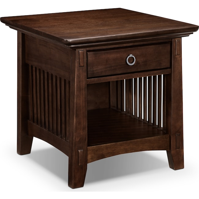 Accent and Occasional Furniture - Arts & Crafts End Table - Chocolate
