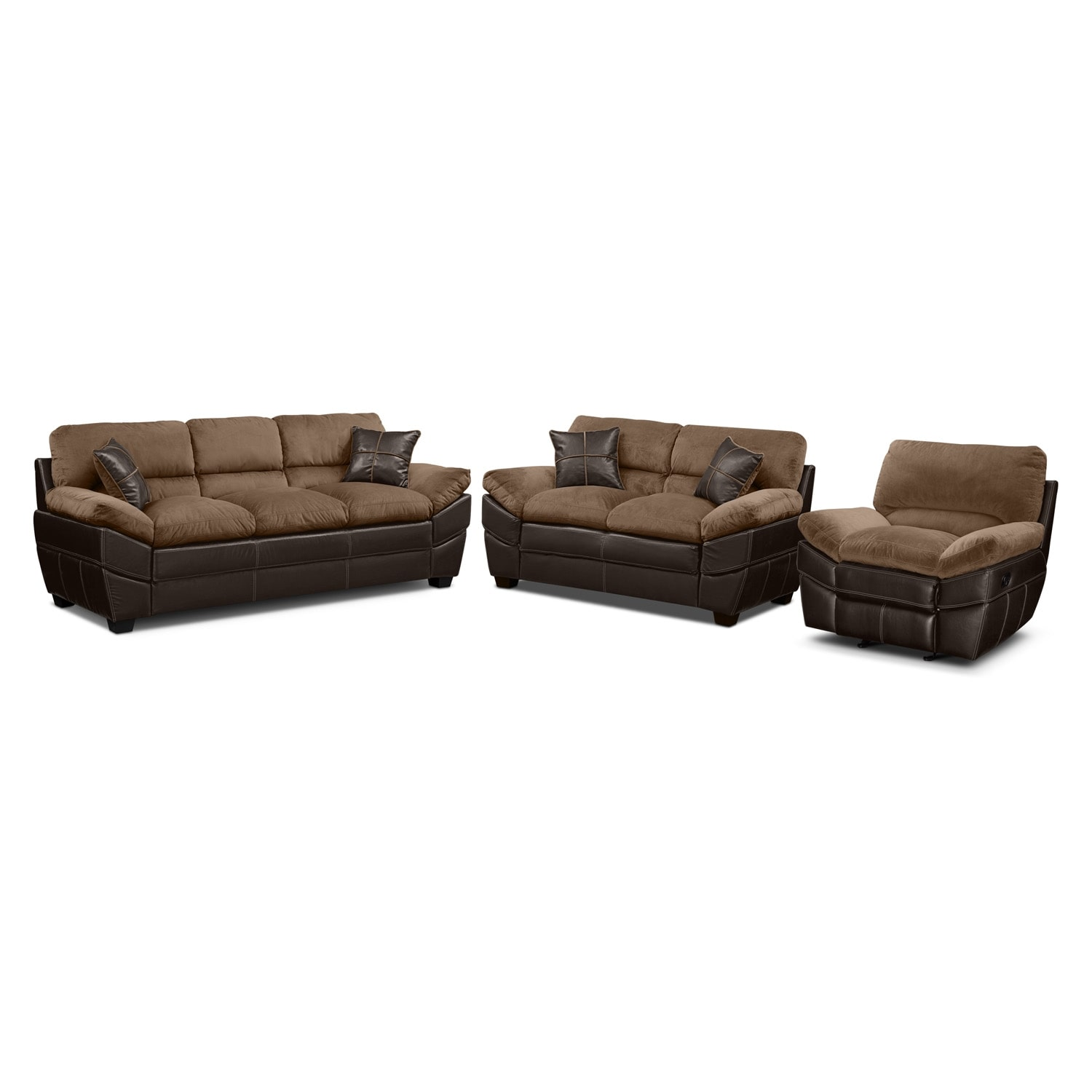 Chandler Beige 3 Pc. Living Room