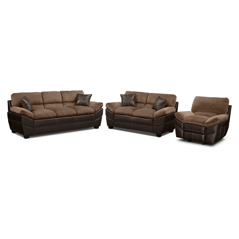 Chandler Beige 3 Pc. Living Room