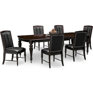 Esquire Table and 6 Chairs - Cherry