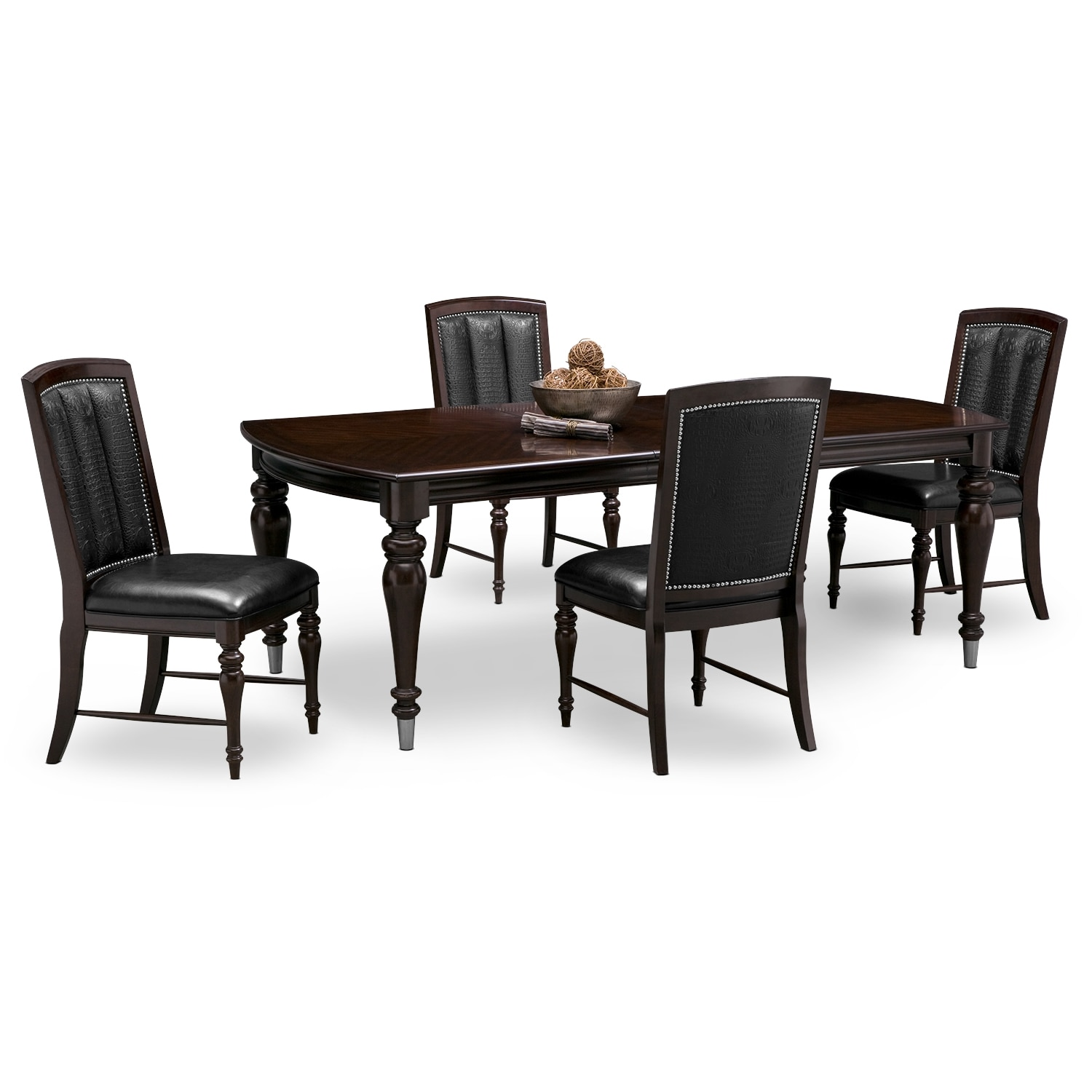 Esquire Table and 4 Chairs - Cherry