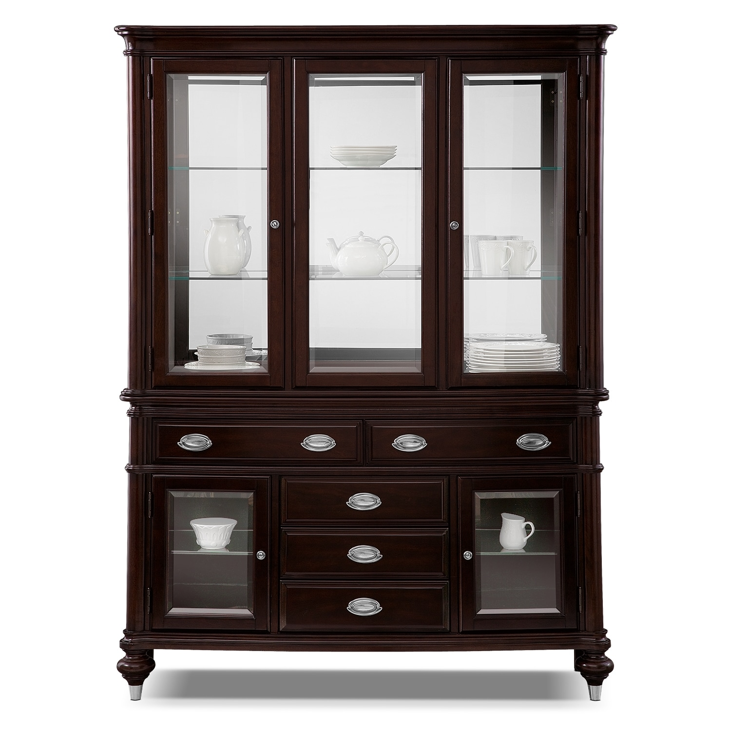 Esquire Buffet and Hutch Cherry Value City Furniture