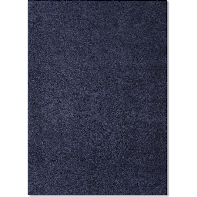 Rugs - Domino Shag 5' x 8' Area Rug - Blue