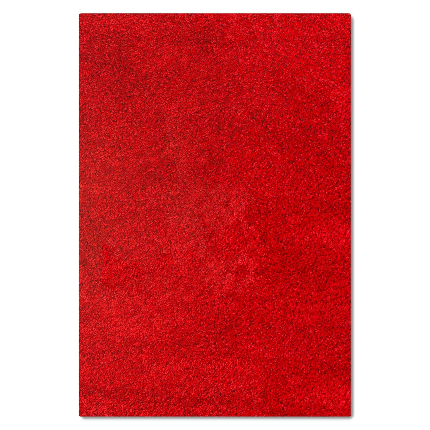 Rugs - Comfort Red Shag Area Rug (8' x 10')