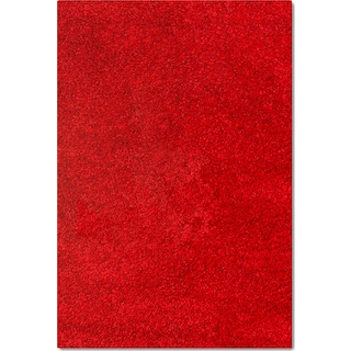 Comfort Shag 8' x 10' Area Rug - Red
