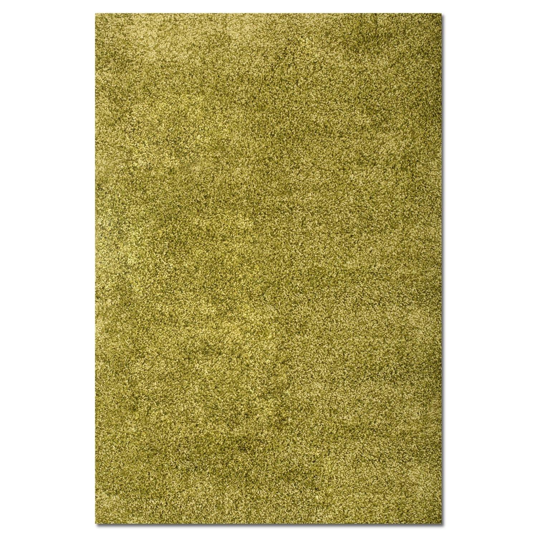 Rugs - Comfort Green Shag Area Rug (5' x 8')