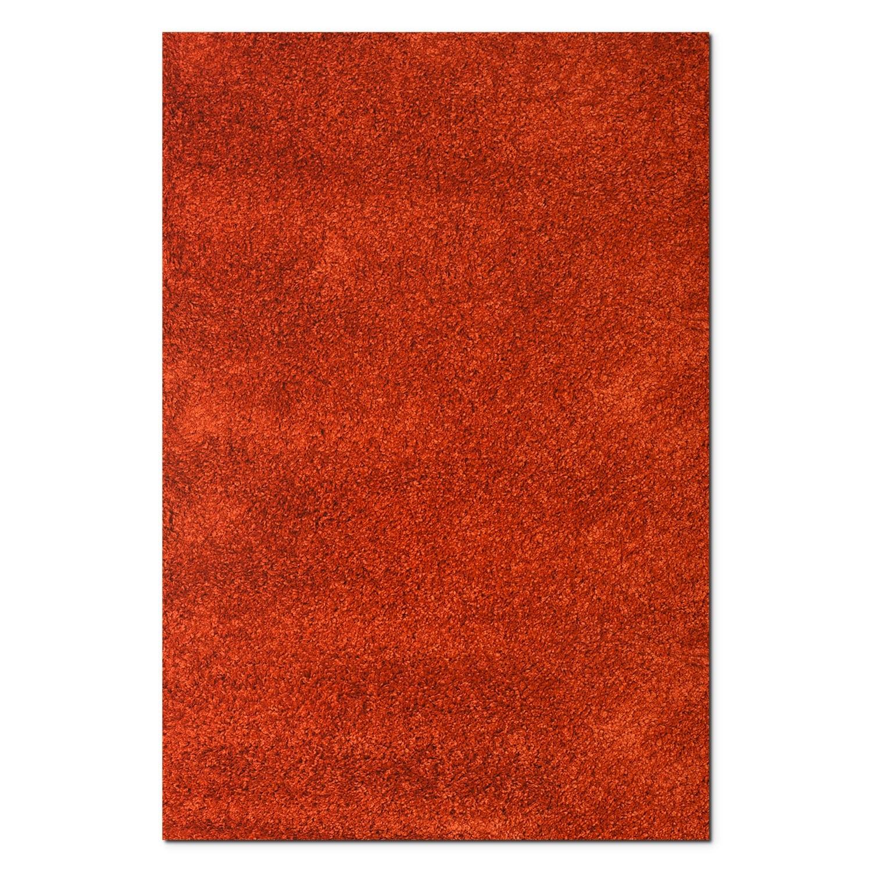 Comfort Rust Shag Area Rug (5' x 8')