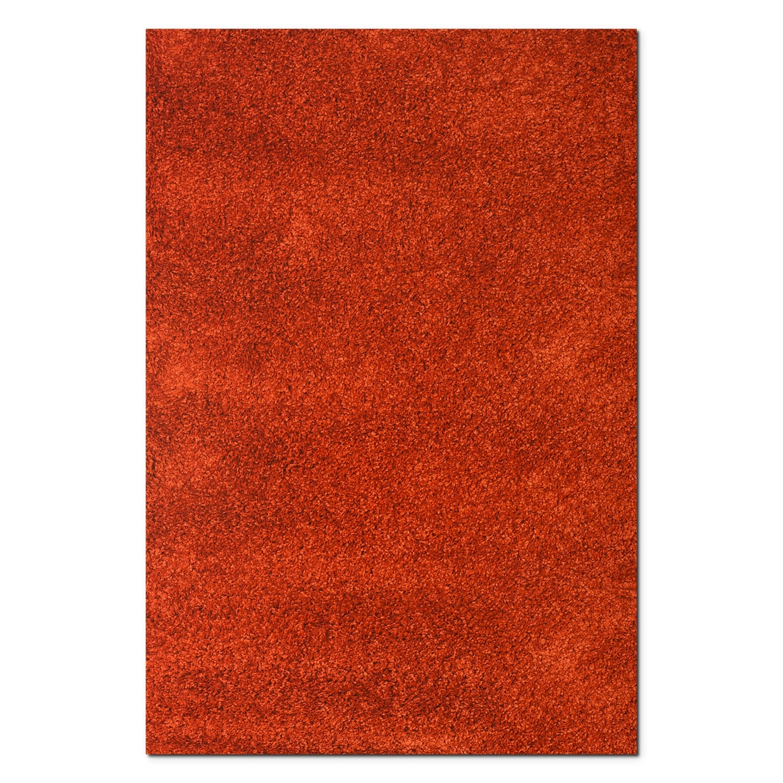 Rugs - Comfort Rust Shag Area Rug (8' x 10')
