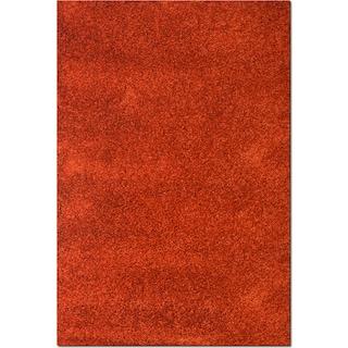 Comfort Shag 5' x 8' Area Rug - Rust