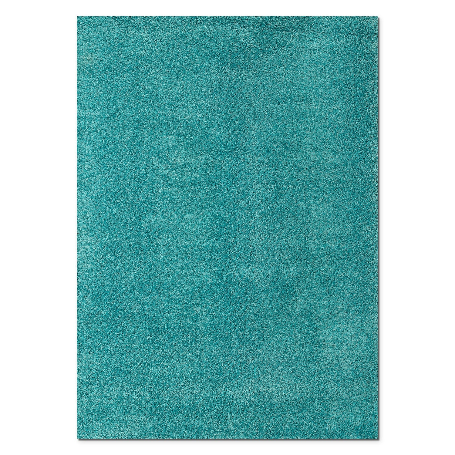 Rugs - Domino Turquoise Shag Area Rug (5' x 8')