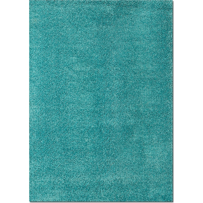 Rugs - Domino Shag 5' x 8' Area Rug - Turquoise