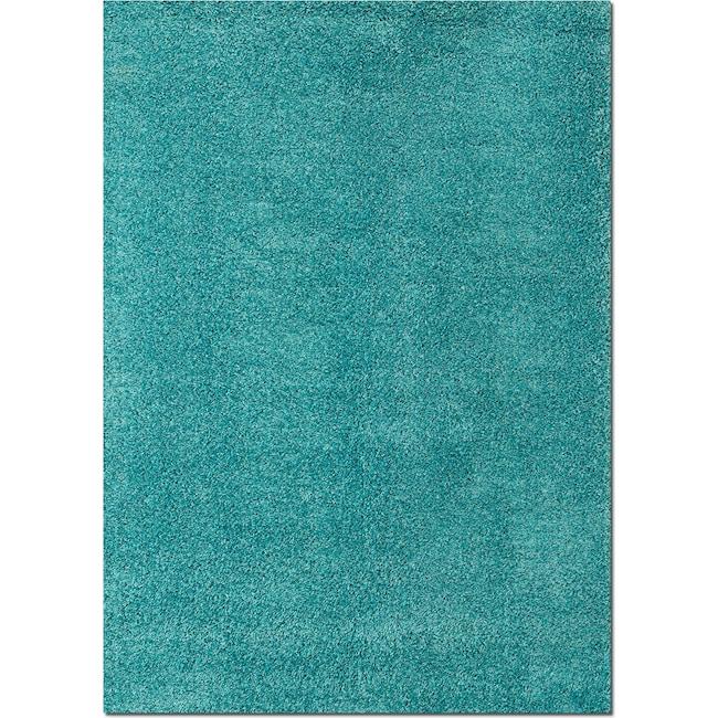 Rugs - Domino Shag 8' x 10' Area Rug - Turquoise