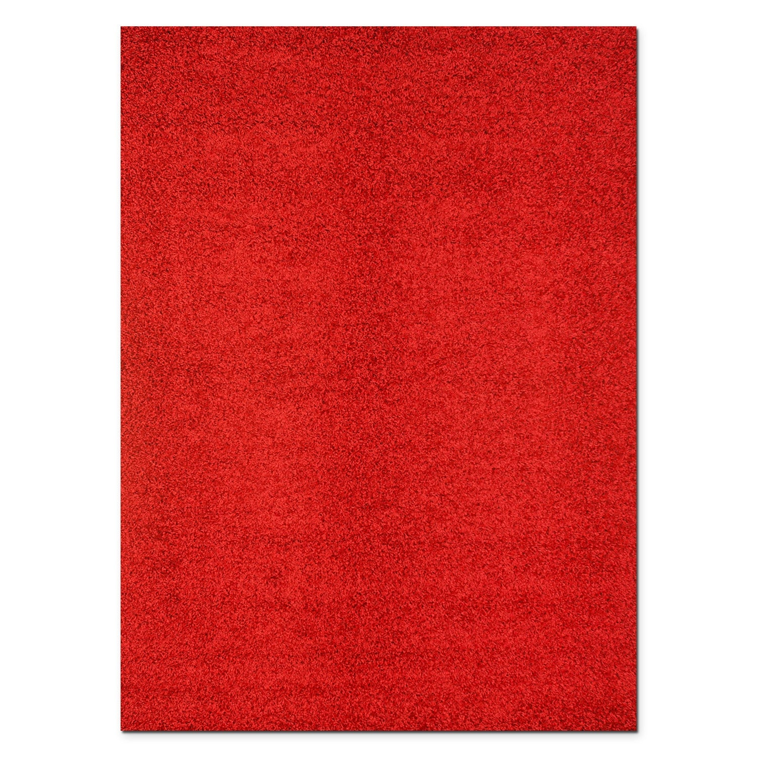 Rugs - Domino Red Shag Area Rug (5' x 8')