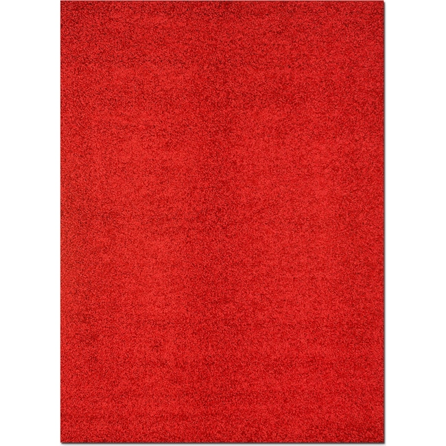 Rugs - Domino Shag 5' x 8' Area Rug - Red