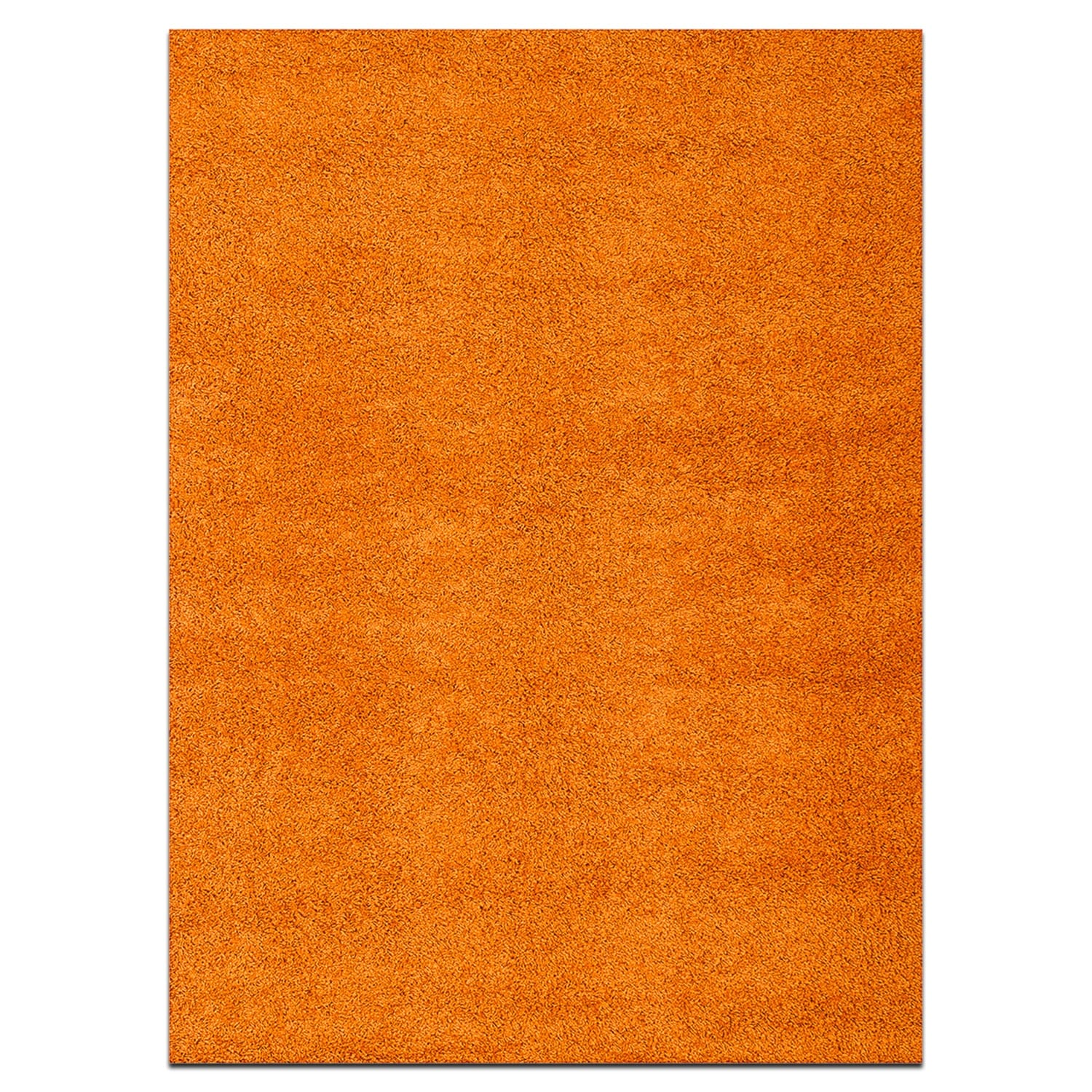 Rugs - Domino Orange Shag Area Rug (5' x 8')