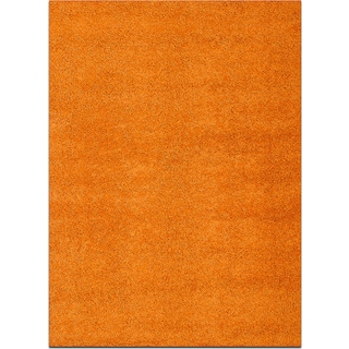 Domino Orange Shag Area Rug (5' x 8')