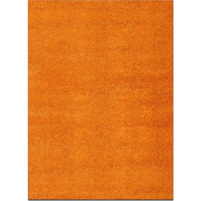 Rugs - Domino Shag 5' x 8' Area Rug - Orange