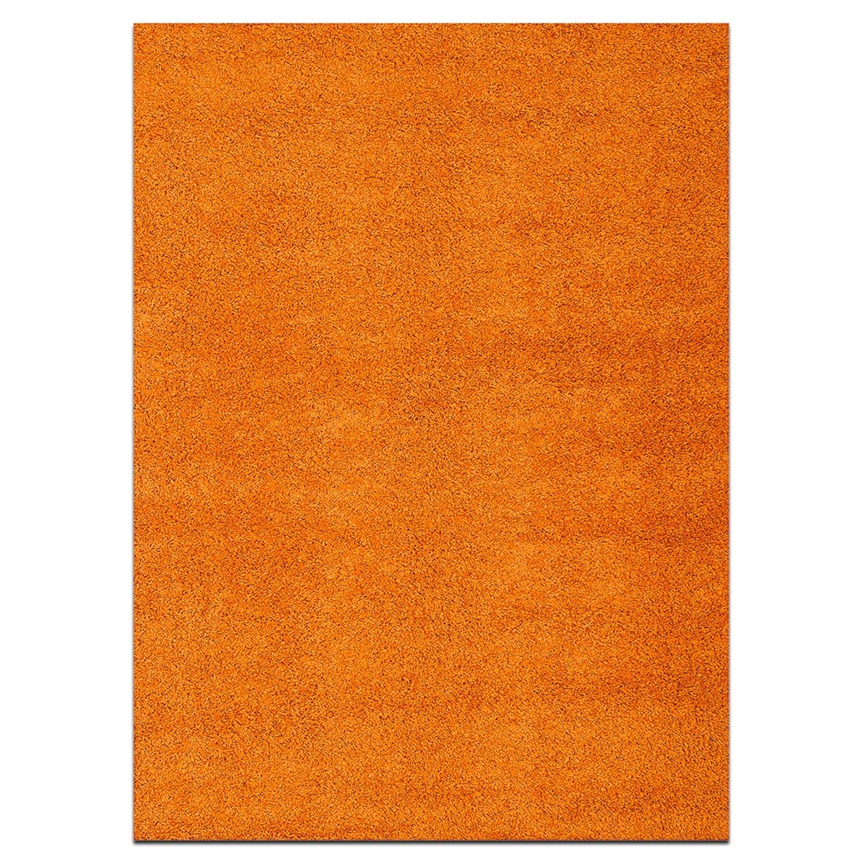 Rugs - Domino Orange Shag Area Rug (8' x 10')