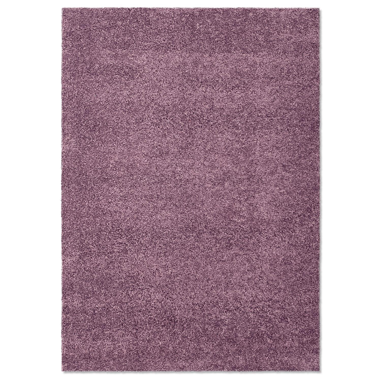 Domino Purple Shag Area Rug (5' x 8')