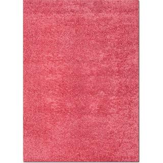 Domino Shag 5' x 8' Area Rug - Pink