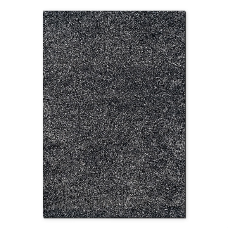 Rugs - Comfort Charcoal Shag Area Rug (8' x 10')