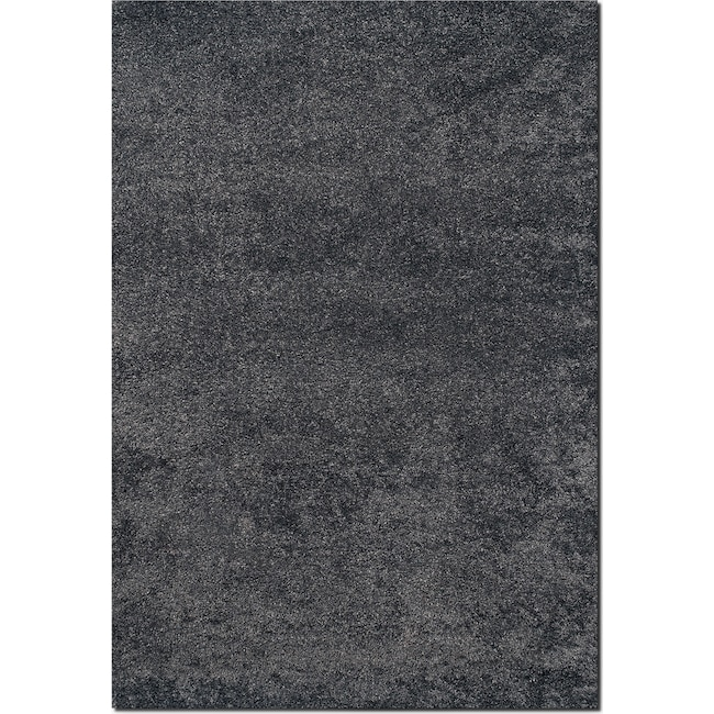 Rugs - Comfort Shag 8' x 10' Area Rug - Charcoal