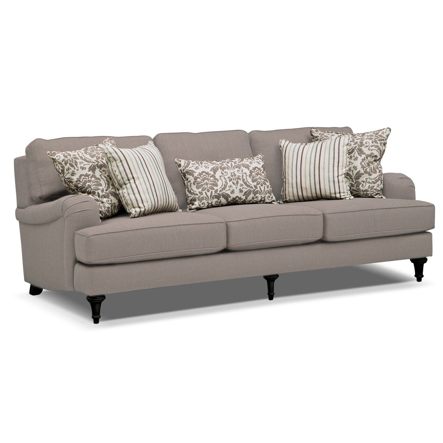 Candice Sofa And Chair And A Half Set Gray Value City Furniture - Jetton sofa
