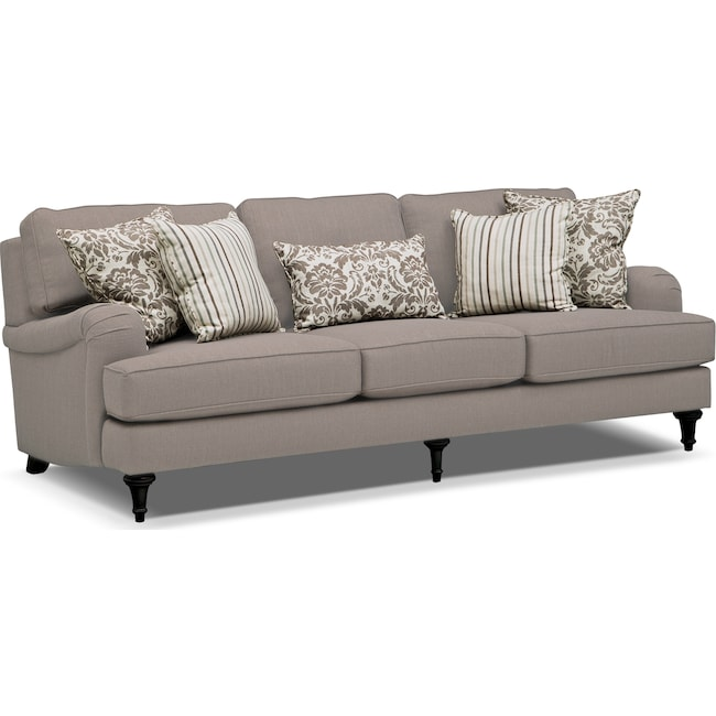 Living Room Furniture - Candice Sofa - Gray