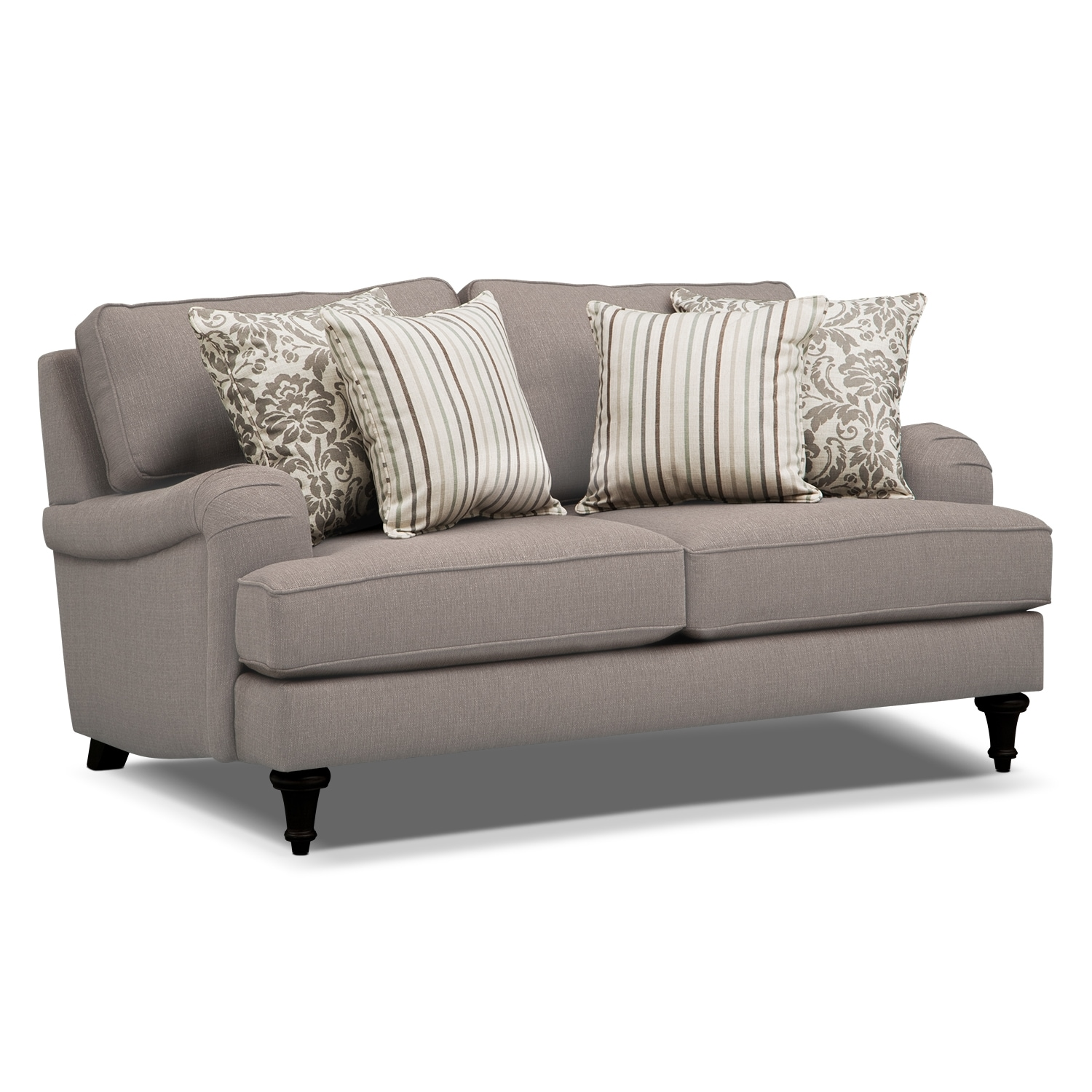 Candice Loveseat Gray Value City Furniture And Mattresses