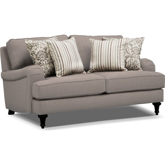 Living Room Furniture - Candice Loveseat - Gray
