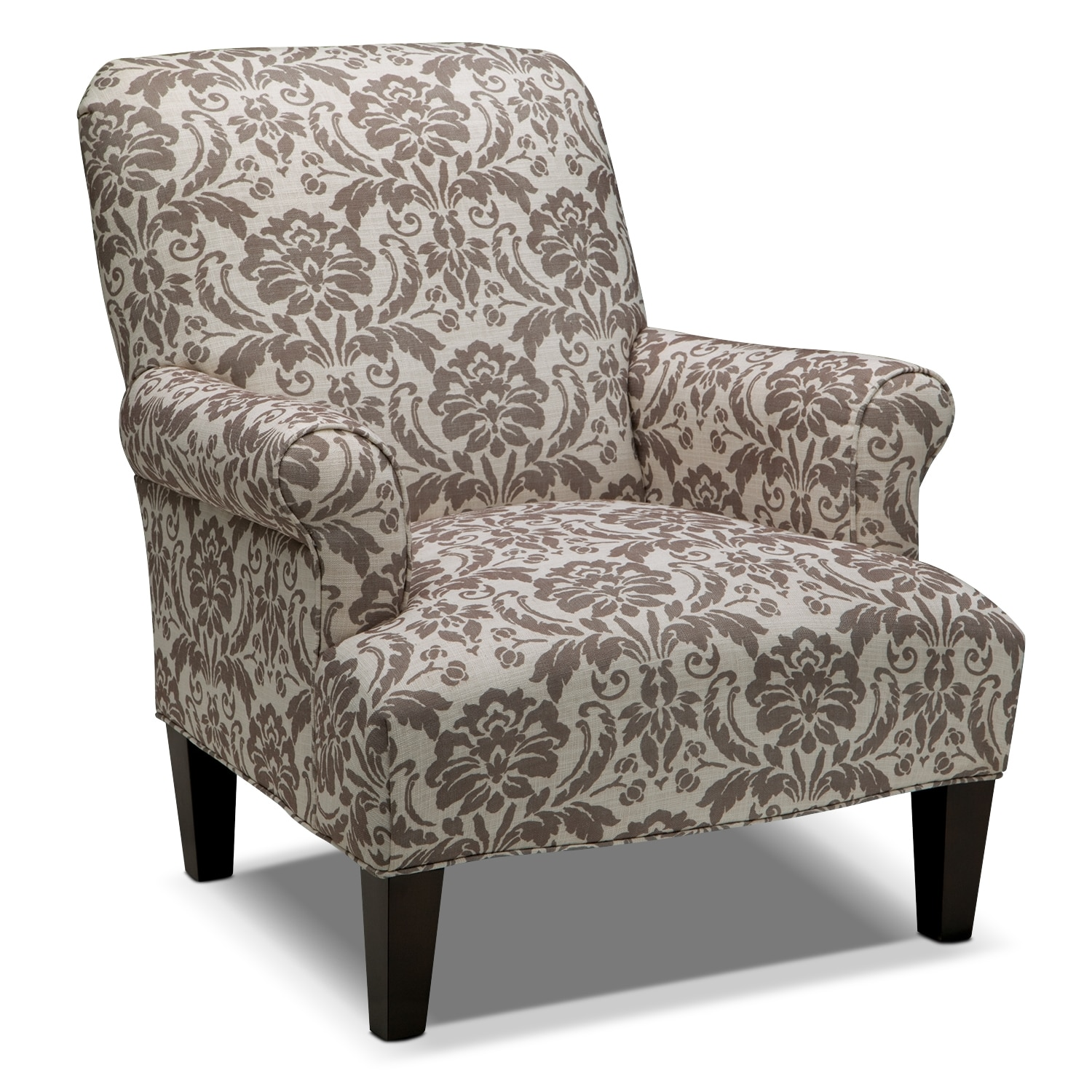 Living Room Furniture - Candice Accent Chair - Gray and Cream