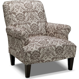 Candice Accent Chair - Gray and Cream