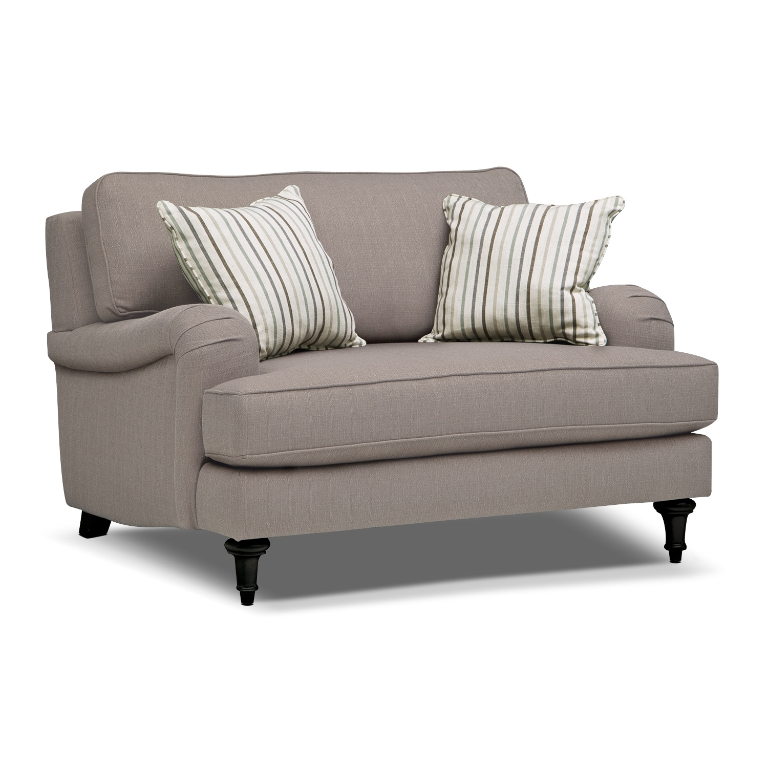 Candice Sofa Loveseat and Chair and a Half Set Gray