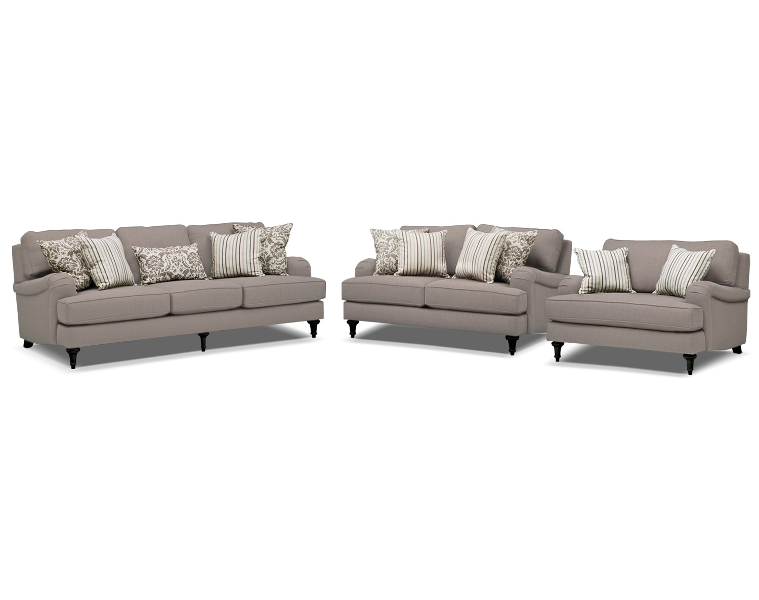 Value City Living Room Sets The Candice Collection Gray Value City Furniture