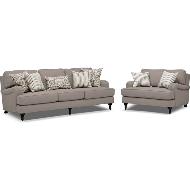 Living Room Chair And A Half. Living Room Furniture  Candice Sofa and Chair a Half Set Gray Value City
