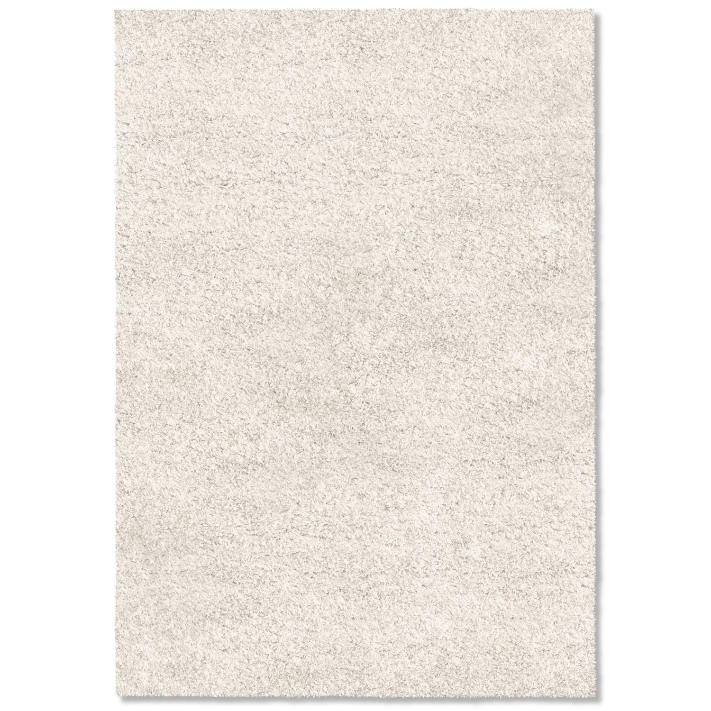 Comfort White Shag Area Rug (5' x 8')