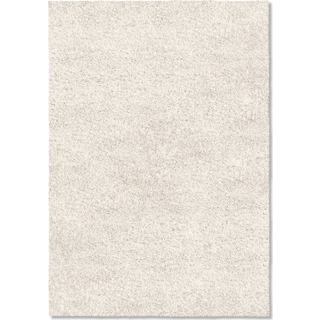Comfort Shag 5' x 8' Arear Rug - White