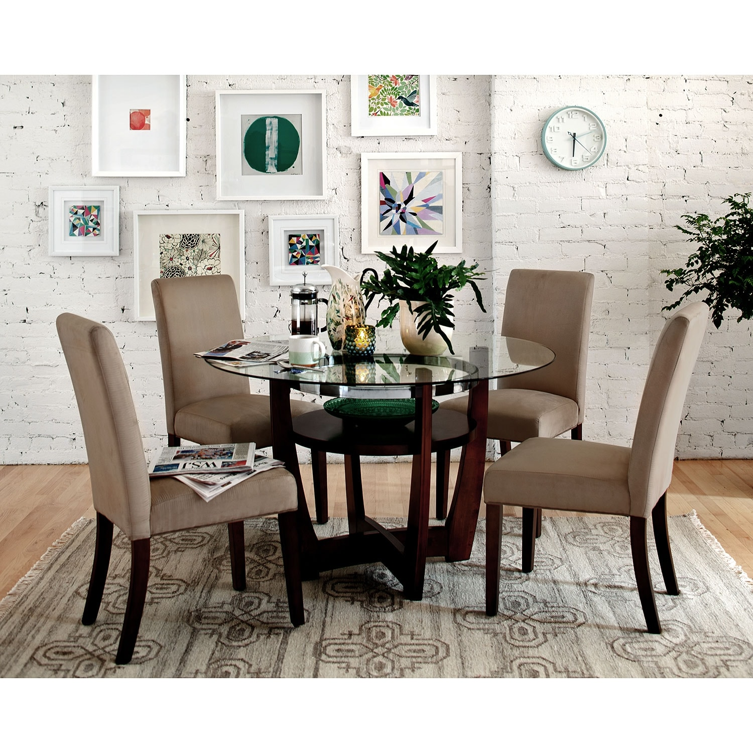 Furniture City Dining Room Suites: Alcove Table - Merlot