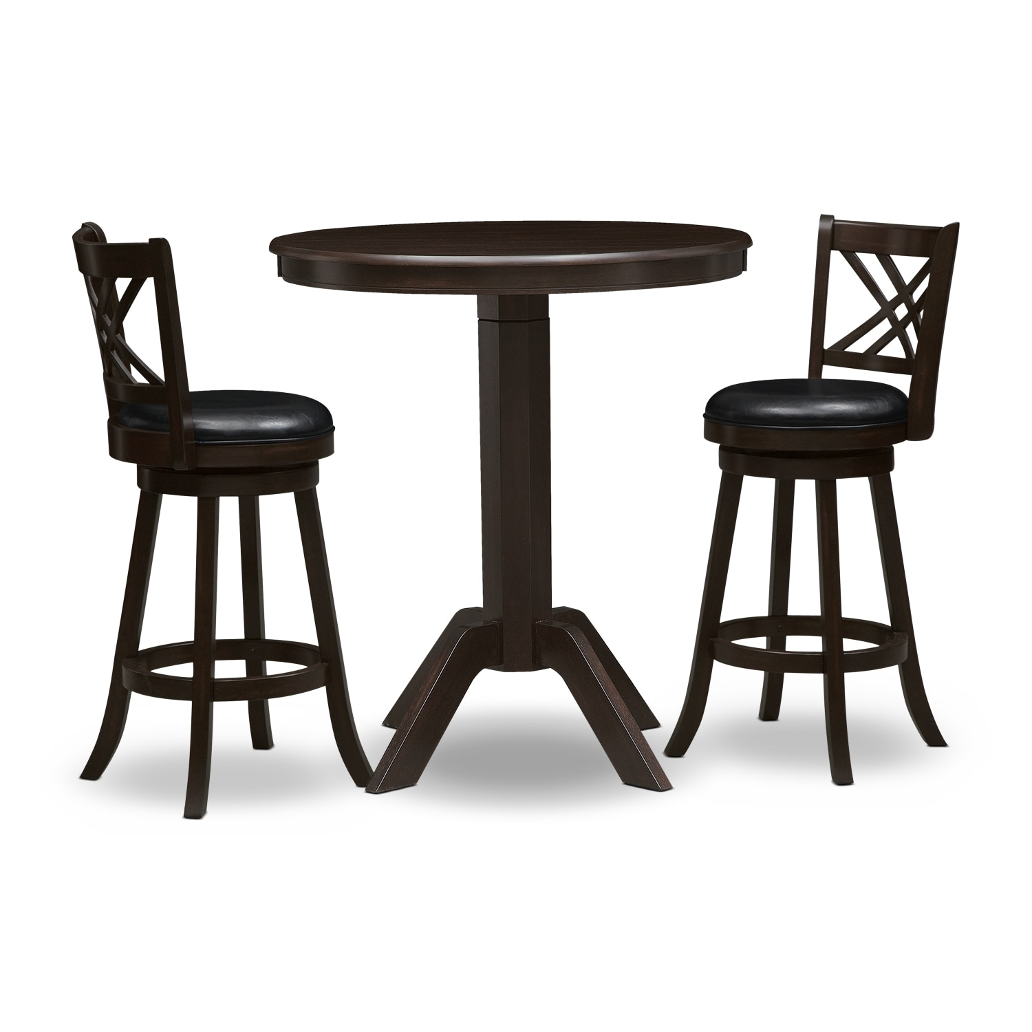 Dining Room Furniture - Concord Merrimac 3 Pc. Bar-Height Dinette