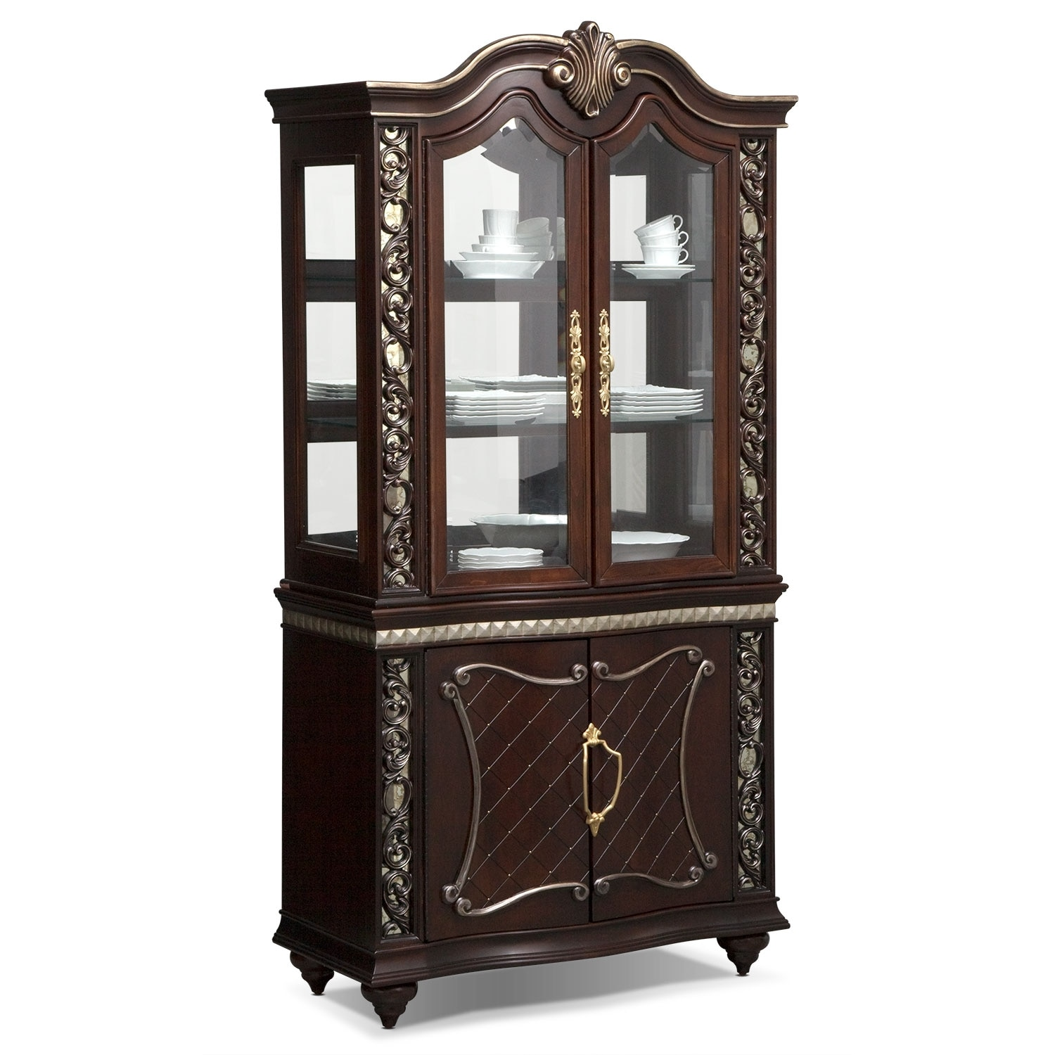 Dining Room Curio Cabinets Bunching Cabinet