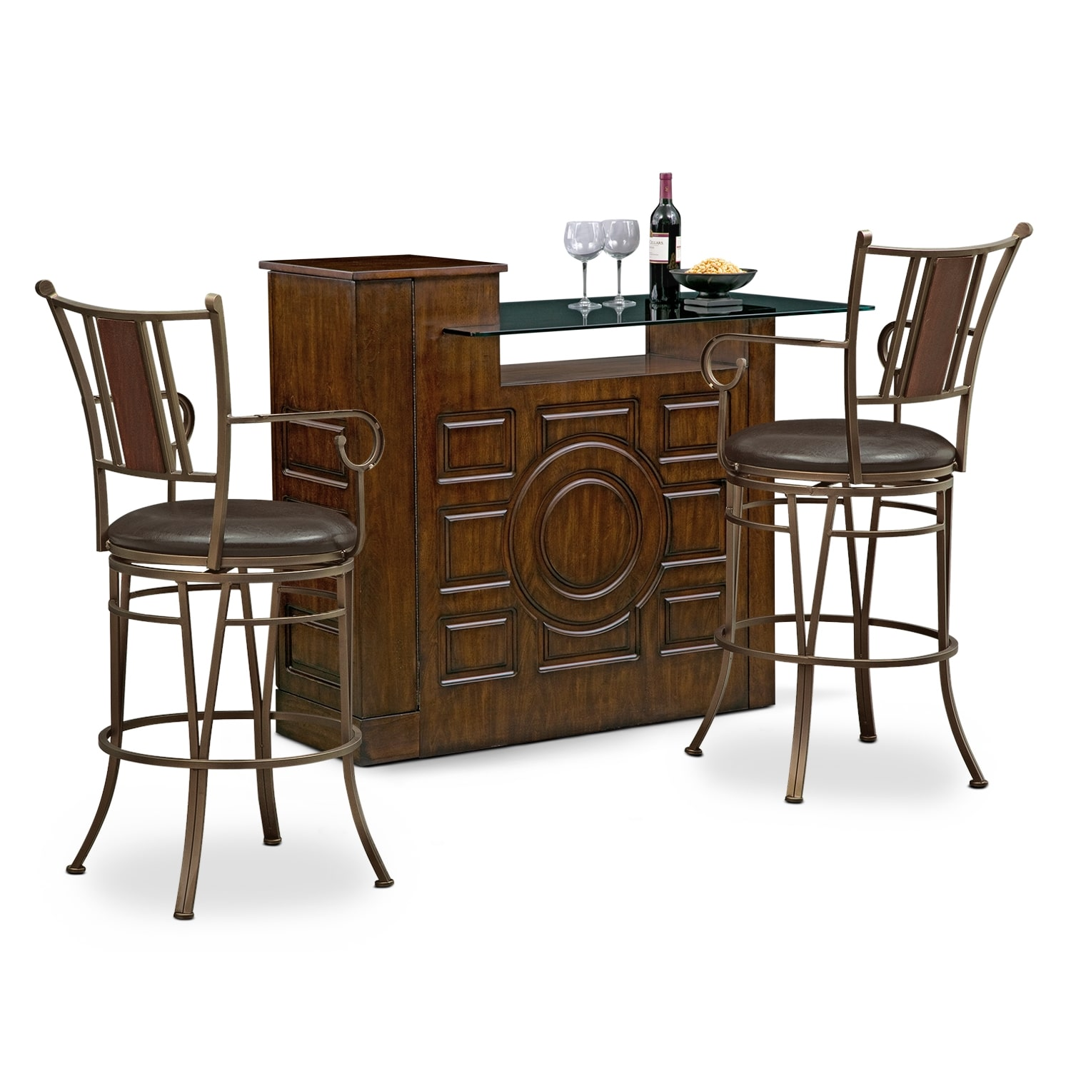 Accent and Occasional Furniture - Origins Camden 3 Pc. Bar Set