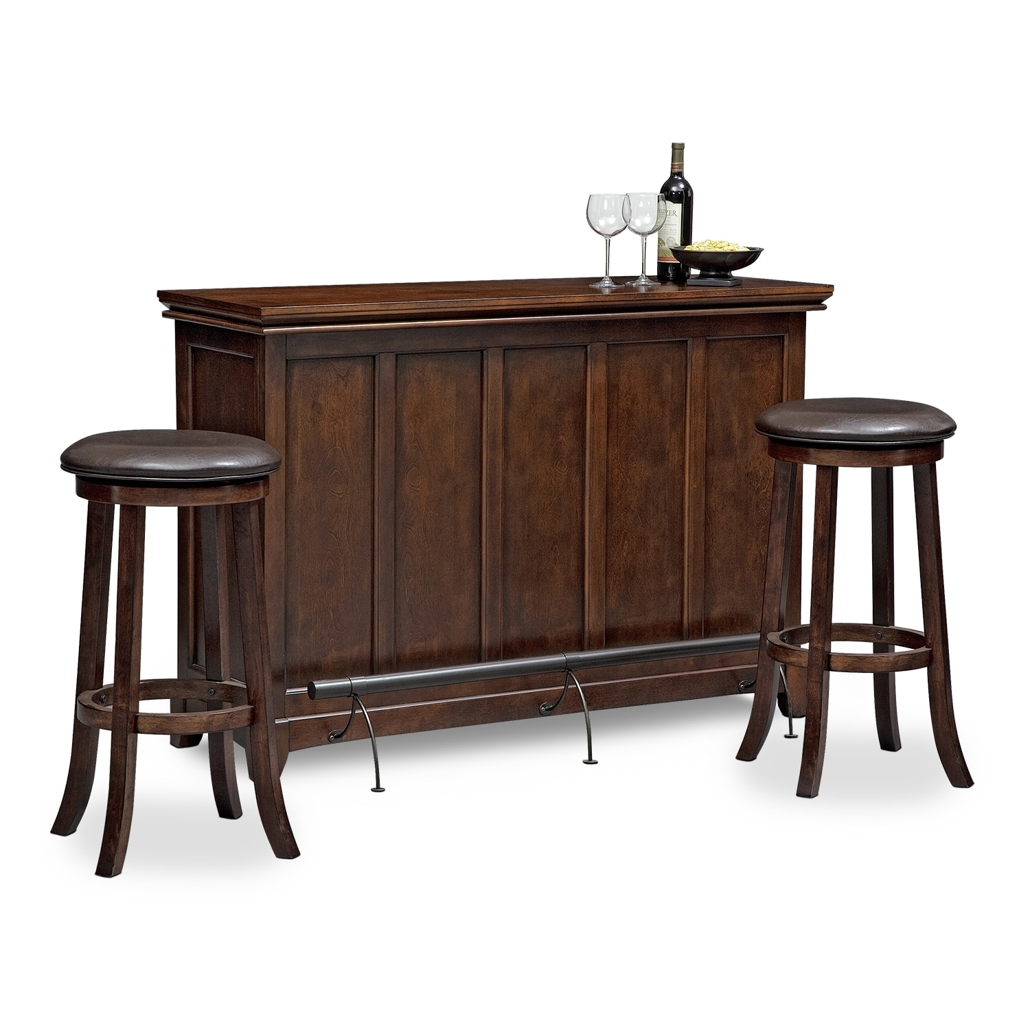 Accent and Occasional Furniture - Carlton Tinker 3 Pc. Bar Set