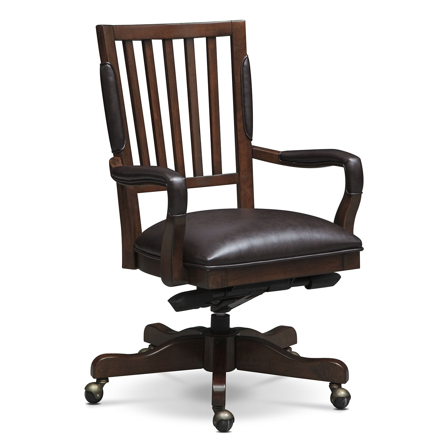 Home Office Furniture - Ashland Office Arm Chair - Cherry
