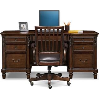 Ashland Executive Desk and Chair Set - Cherry